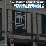 E.W. Scripps Co. agreed to buy ION Media for $2.65B in a move to significantly expand the TV station owner's reach with the backing of Berkshire Hathaway Inc. Berkshire plans to make a $600M equity investment in Scripps to help finance the purchase.  - #StockMarket #Invest #media