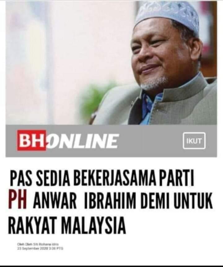 Hadi kata 18 MP Pas sokong Muhyiddin tapi mamat ni kata sokong Anwar mana yg betul ni?