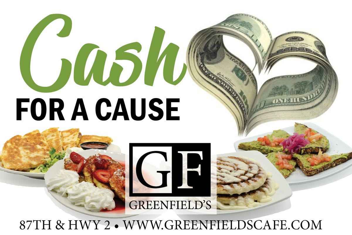 We are looking for Cash For A Cause events to host at Greenfields. If you have an event that needs funding please contact us at 402.420.3232 to apply.   #CashForACause #Greenfields #SupportLocal #Greenfields #GivingBack #Breakfast #Brunch #Lunch #Dinner #Events #EventSpace