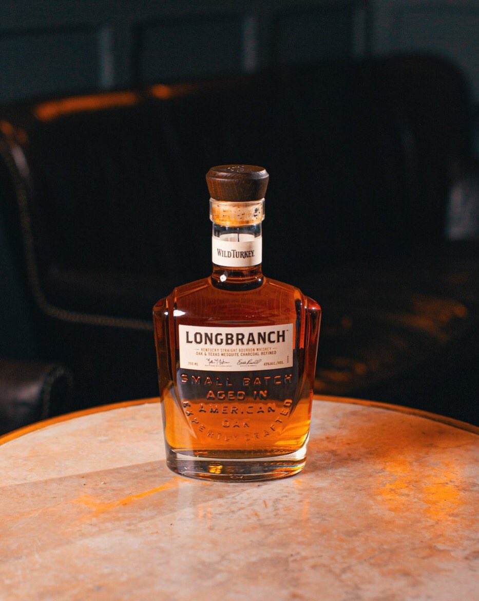A small batch Kentucky Straight Bourbon aged for 8 years and refined with Texas Mesquite and American Oak charcoals. Smoky. Sweet. Forever wondering.  Now wander on over to @LongbranchUS https://t.co/Uzgt0lFljt
