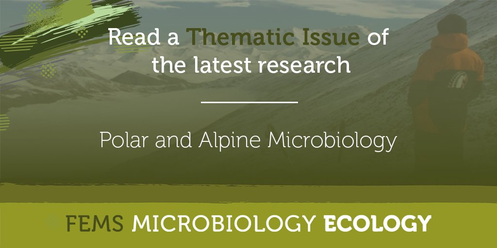 How has global warming affected the microbial communities inhabiting polar and alpine environments? Find out more in a new Thematic Issue from FEMS Microbiology Ecology. @FEMSmicro https://t.co/TcvHIT6FJB https://t.co/XCzCaA3Xzm