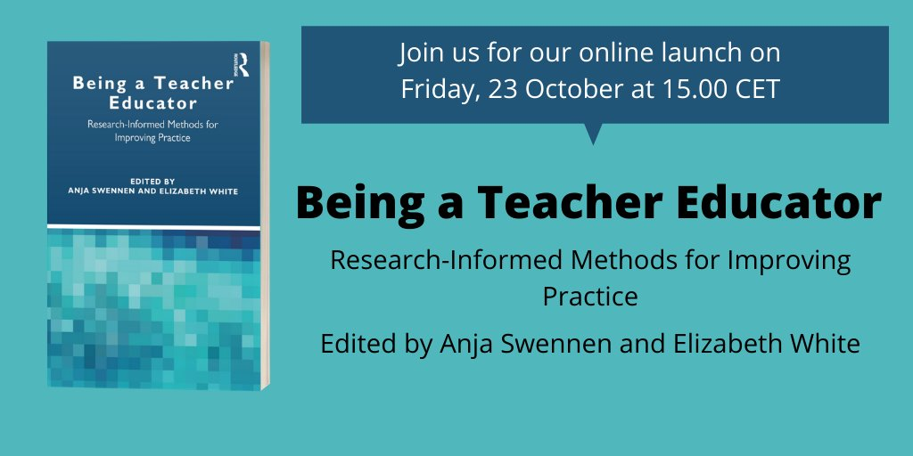 Do join us for the launch of Being a Teacher Educator: Research-informed methods for improving practice https://t.co/aW7hfnf7R7. Please register at this link no later than 21 October: https://t.co/bTwGXZPyfD  @ATEE_Brussels @routledgeed @SarahHydeEditor https://t.co/Dy1KCfrCXm