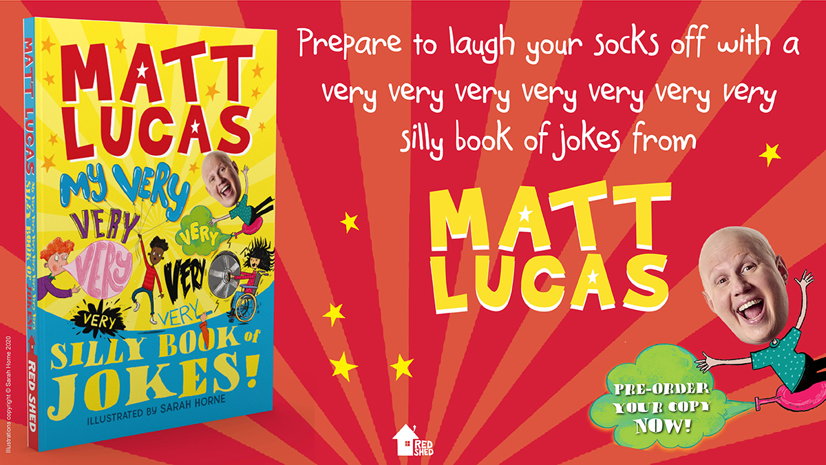 Have you heard we're publishing My Very Very Very Very Very Very 𝑉𝑒𝑟𝑦 Silly Book of Jokes by @RealMattLucas? It's packed full of knock-knock jokes, classics one-liners, shaggy dog stories, and more! Available to pre-order now: https://t.co/xsRCJ3EzFB https://t.co/0cyXual1zo