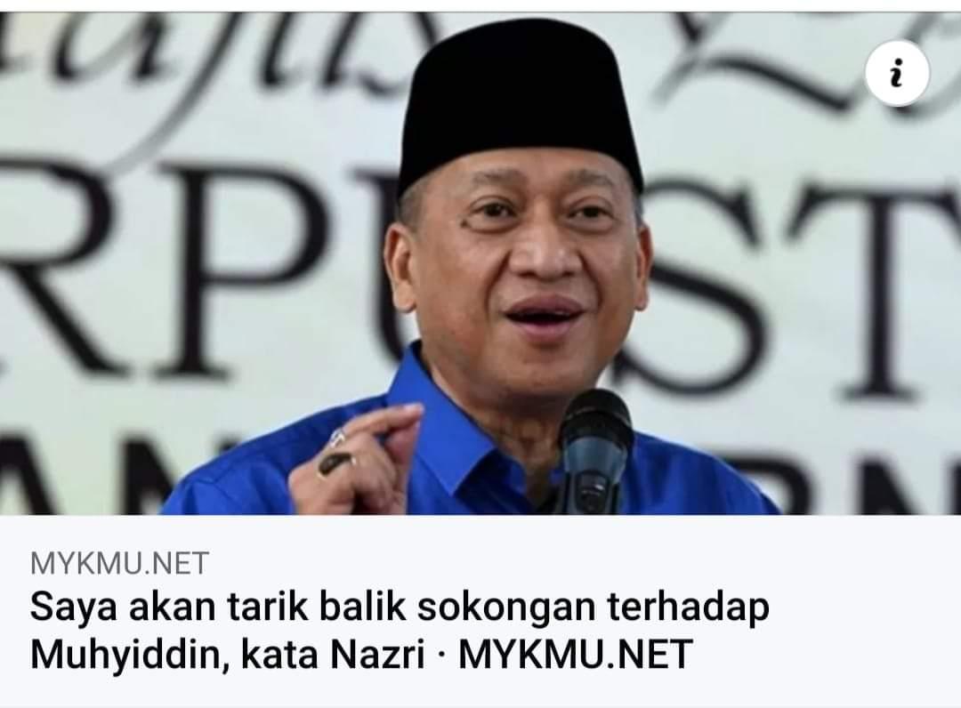 Sah tarik balik majoriti Muhyiddin merosot serta merta.