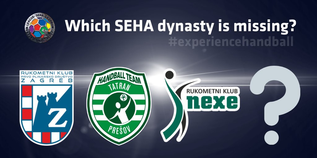 4⃣TEAMS are a part of #SEHALeague from 2011 🔥 Which one is missing ⁉️  #SEHA #Gazprom #experiencehandball #dynasty https://t.co/dL6CaMBfxW