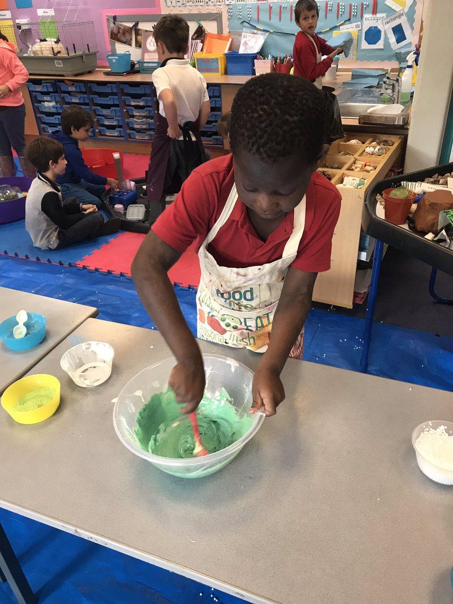 Slime making in progress! #sticky #slimy #messyplay #sensory. @stjs_staveley https://t.co/SkAo5E8nhc