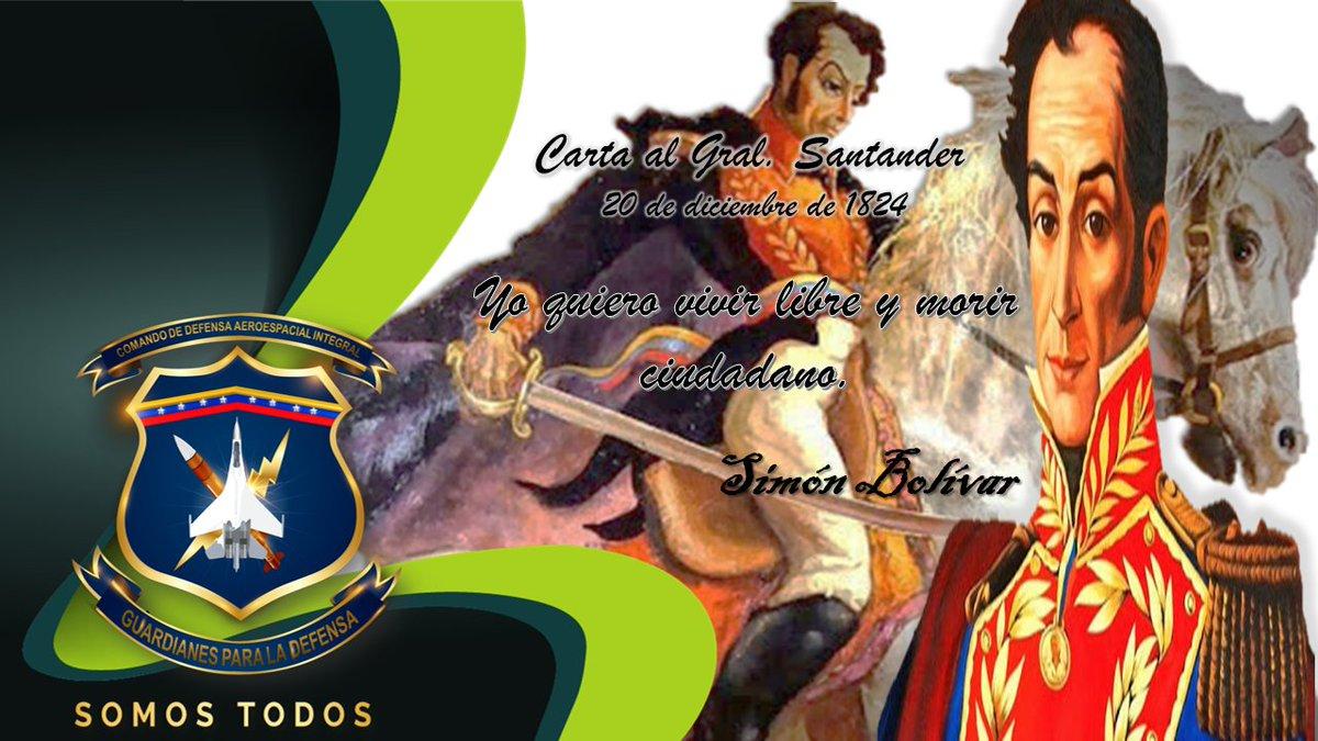 🇻🇪Sumados a la tarea de divulgar el pensamiento del Genio de América y padre de la Patria, el Libertador Simón Bolívar, @CODAI_FANB rememora los ideales políticos, sociales y militares de este gran visionario y héroe Independentista. #LealesSiempreTraidoresNunca #FANB https://t.co/5fJ3N497b6