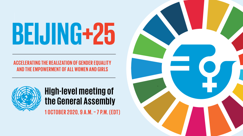 ✉️ Save the date ✉️  Join us & @UN_PGA for the virtual 25th-anniversary of the Fourth World Conference on Women. 🗓️ 1 Oct ⏰ 9 am EDT  Let's recommit to the unfinished business of the Beijing Declaration & Platform for Action!  ℹ️ https://t.co/qZ1OoqLnn4 #GenerationEquality #UNGA https://t.co/EekKGO9RC7