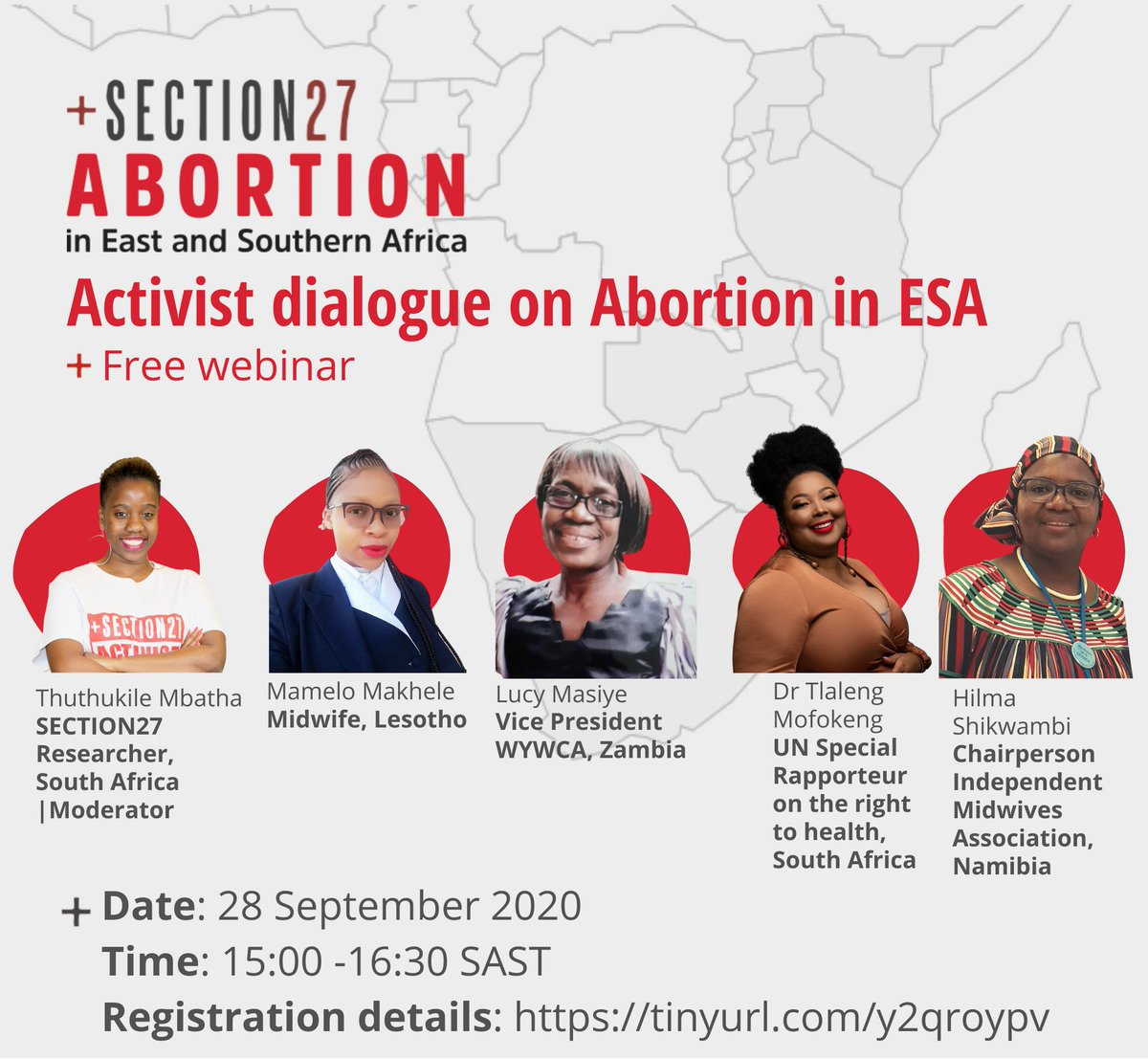 Free webinar on an NB topic on #SafeAbortionDay w/ inspirational speakers. A woman's right to choose is her right. Finish & klaar. Today, tomorrow, everyday. No if's & but's. #SheDecides. @SA_AIDSCOUNCIL @NACOSANet @FPD_SA @Yplus_Global @ICWEastAfrica @drtlaleng @FirstLadyNam https://t.co/SlNm5OyAqU