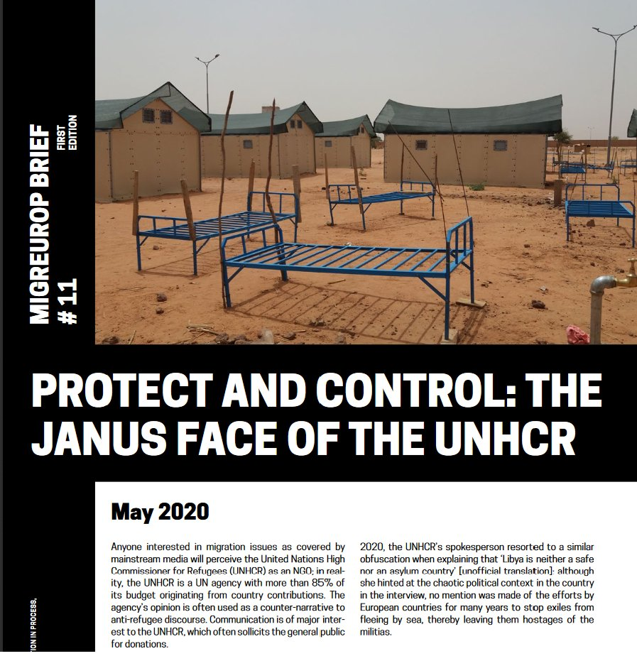 Migreurop' brief on #UNHCR and the ambiguity of its role, between protection and control : https://t.co/MrLGY6IAxV  @Refugees #migrantsrights https://t.co/VZIvwCH75v