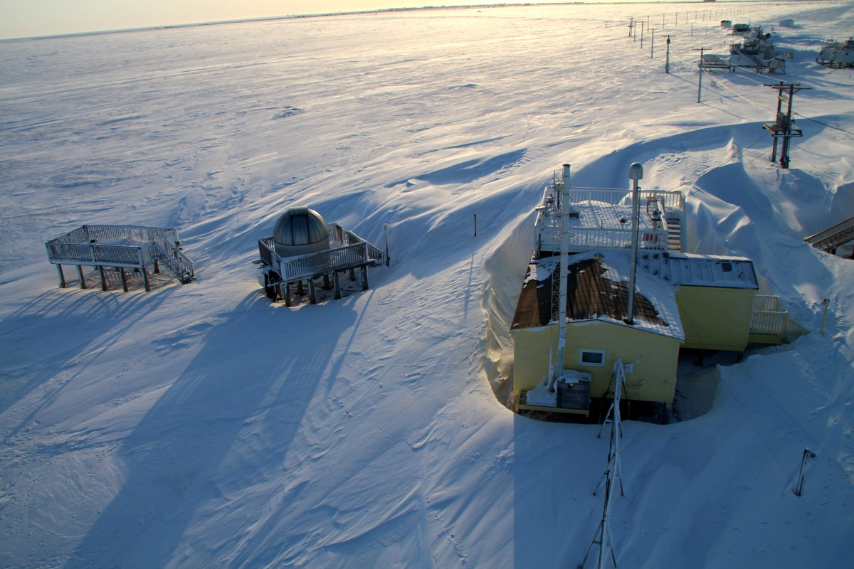After NOAA formed in 1970, scientists got to work to increase our ability to measure carbon dioxide in the atmosphere. In 1973 & 1974, NOAA created 2 atmospheric observatories — one in Barrow (now Utqiaġvik) Alaska and one in American Samoa. esrl.noaa.gov/gmd/obop/ #NOAAat50