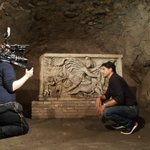 Image for the Tweet beginning: Filming today in the Mithraeum