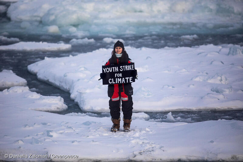 """I'm here because I want to see for myself what's at stake as the Arctic ocean, an absolutely crucial part of protecting our planet, melts away at a terrifying rate.""  Join @BirdgirlUK and #FridayForFuture in today's #GlobalClimateStrike! ✊🏾✊🏼  Read more: https://t.co/nnjXOD0d9i https://t.co/0p5t1DCcqa"
