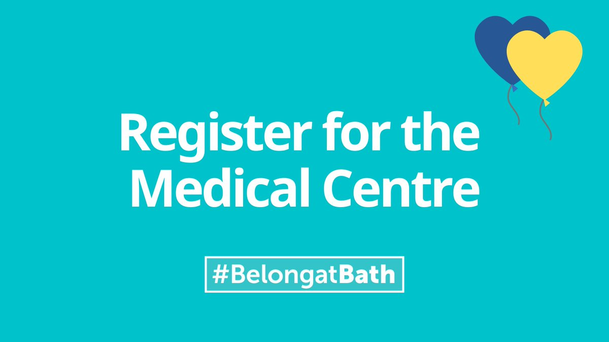 Are you a new student? Don't forget to register with the Medical Centre on campus. 💙 💛   @BathStuServices @thesubath   #BelongatBath  https://t.co/5cDvlVyPFq https://t.co/RhR7WDwzB9