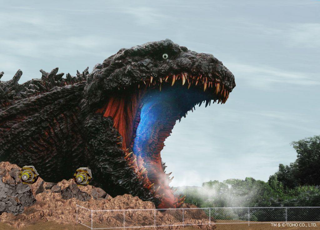 全長120mの等身大「ゴジラ」に口から突入 淡路島に新アトラクション