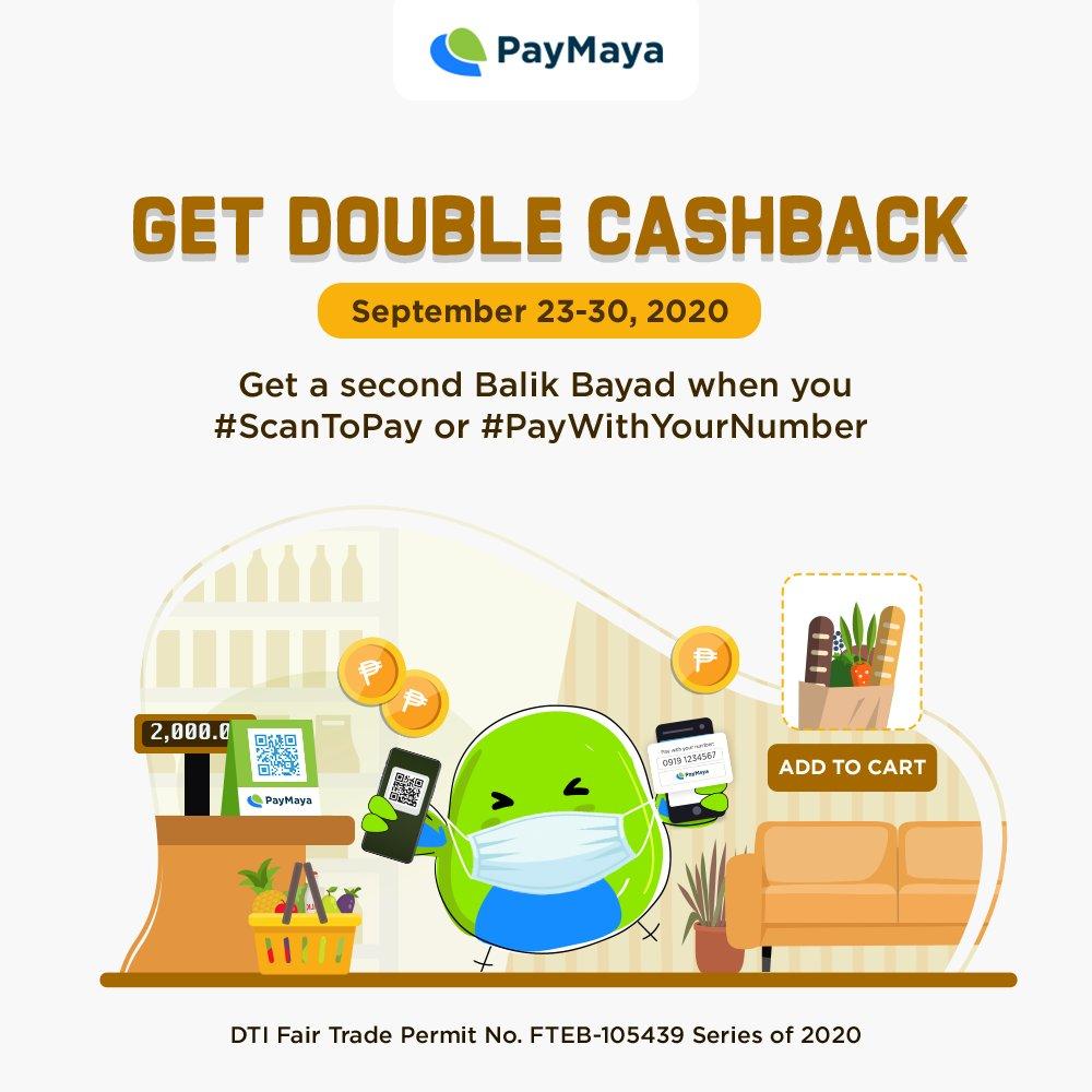 #ScanToPay or #PayWithYourNumber to get a second Balik Bayad‼️    @PayMayaOfficial #PayMaya