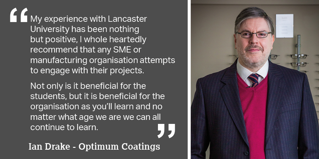 Ian Drake, Operations Manager of @OptimumLenses, based in Lancashire, talks about collaborating with @LancasterManage. Find out how you can get involved in our #MadeSmarter #Leadership Programme: https://t.co/K3Mi4BUONC @MadeSmarterUK #MSLP #manufacturing #industry40 #SME https://t.co/M9dMZwm4fE