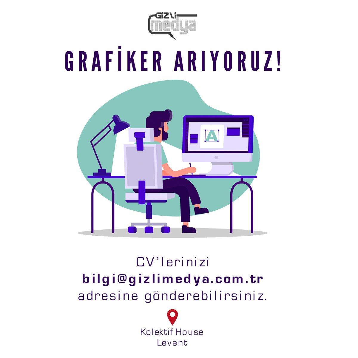 Tam zamanlı #grafiker arıyoruz, lütfen yayalım. #işilanı https://t.co/85aXOLyQ8V
