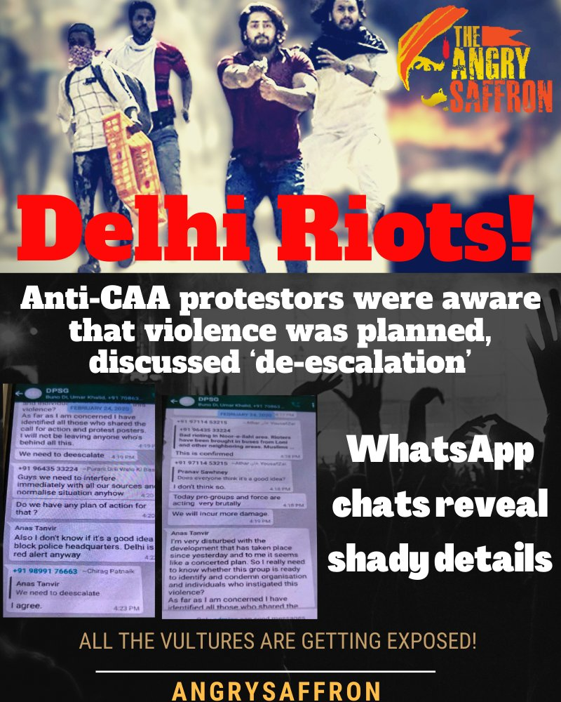 #DelhiRiots: WhatsApp chats acquired by OpIndia show how some anti-#CAA protestors were aware that violence was planned, discussed 'de-escalation' https://t.co/fjwMrWziw3