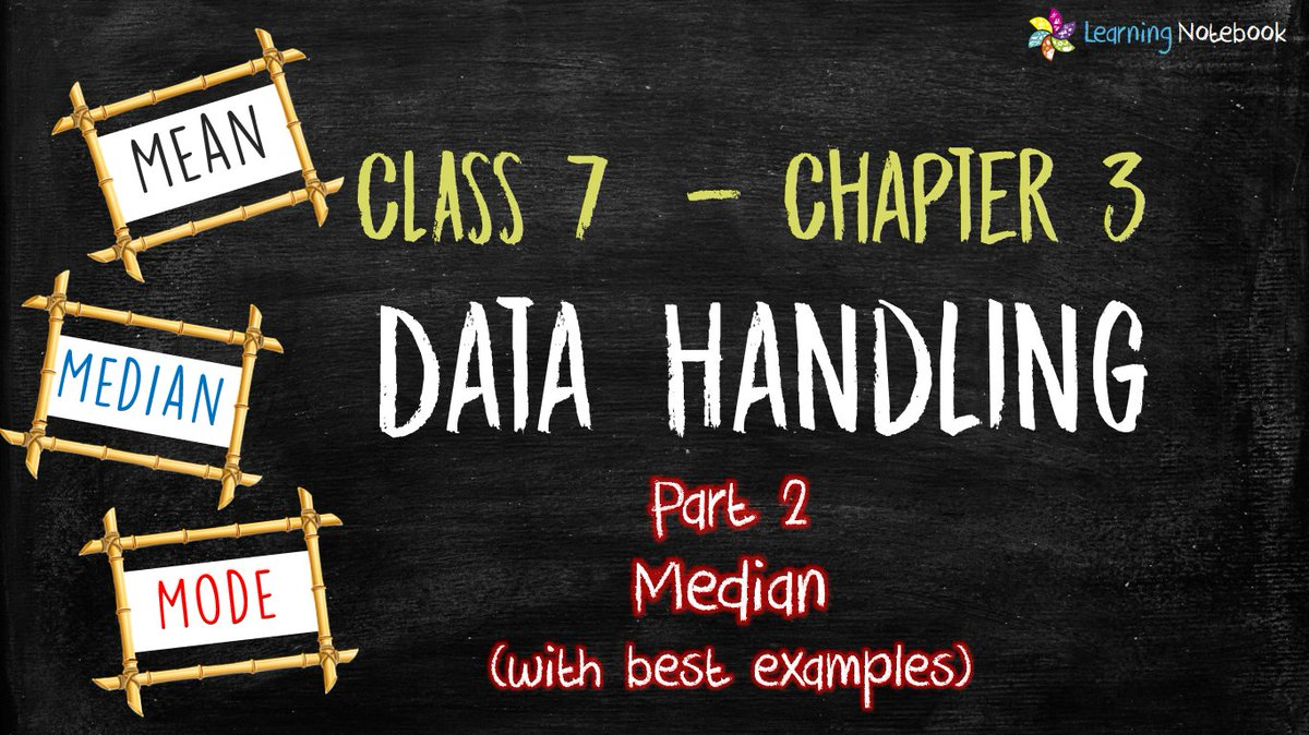 Class 7 Maths Ch3 P2 Learn Median with Best Examples (Data Handling) | NCERT - CBSE  https://t.co/w8SZeD6XLr  #LearningNotebook #schools #classroom #EducationForAll #student #studentsuccess #NCERT #CBSE #maths #Mathematics #education #school #teaching #teacher #parents #math https://t.co/yBGkVQUMwM
