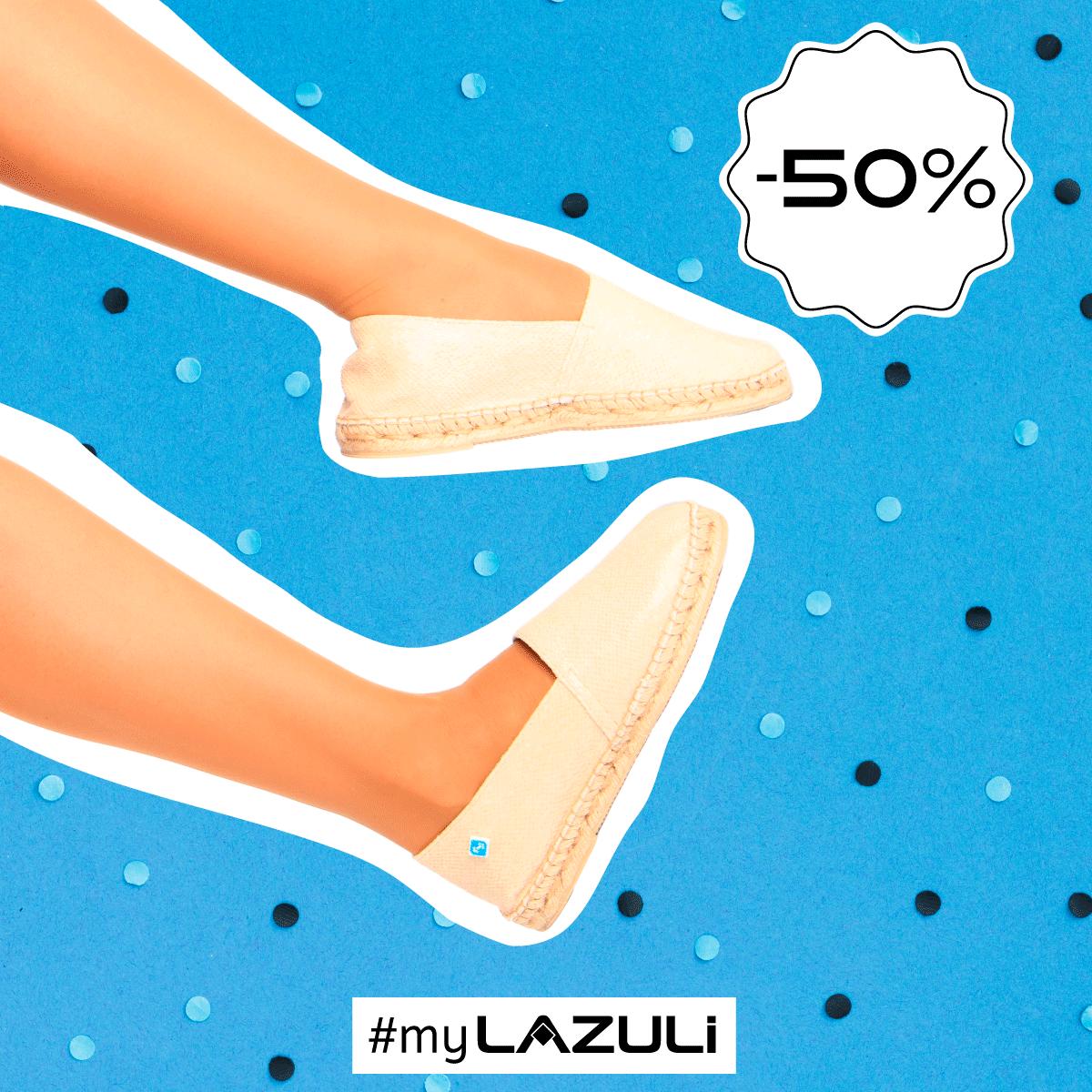 🚨  ÚLTIMOS SALDOS - 50% 🚨 #myLAZULI   #sale #saldos #descontos #shoponline #shopping #shoponline #SpringSummer #SS20 #ss2020 #PrimaveraVerao2020 #espadrilles #alpargatas #Footwear #PortugueseShoes #PortugueseInspiration #PortugueseTiles  #Lazuli #LazuliShoes https://t.co/o5FGXC6ym5