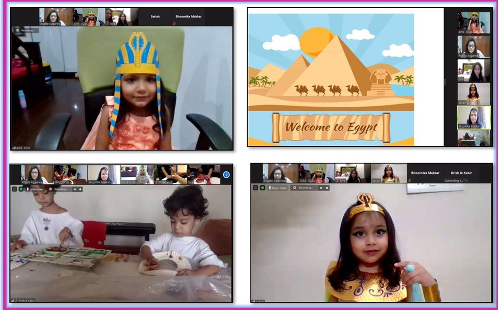 #fun Friyay brought in lots of 'Egyptian Fen' for the #earlyyears Ss visited #Egypt and were introduced to Egyptian #culture #food #language #dance..they enjoyed making Egyptian Collars and dancing to the tunes of 'Walk like an Egyptian' #internationalmindedness @Prometheus_Edu https://t.co/Q6Ar3JX3gR