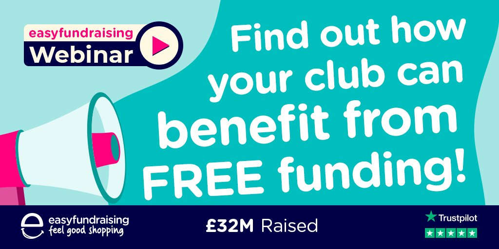 Register for @easyuk's free webinar to find out how they can help your club or team raise funds.   They'll cover how it works and answer any questions you may have, as well as helping you get started + you could win £50 for your club or team!  ➡️ https://t.co/ZJSnJIiZWc https://t.co/7VCWTTU156