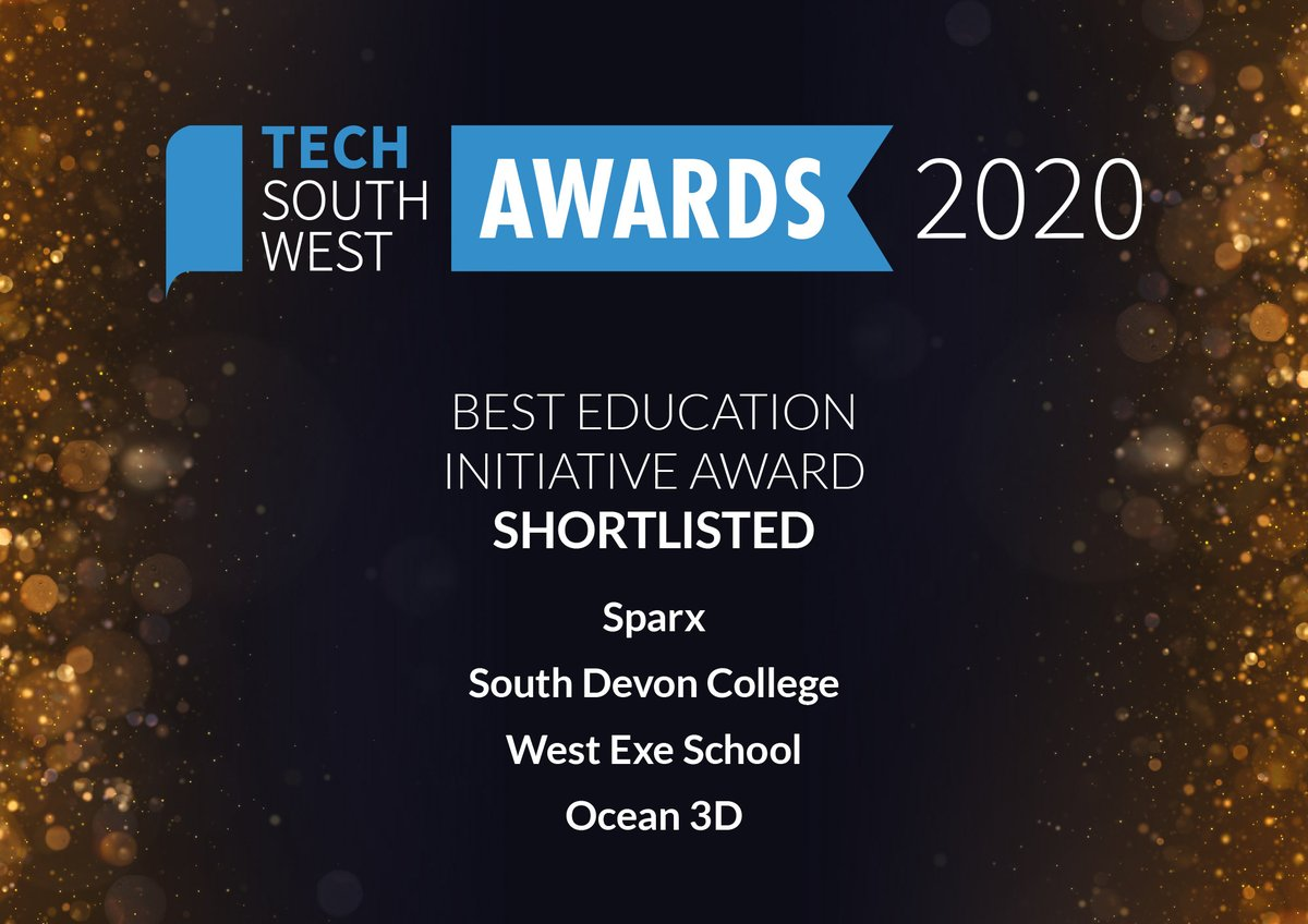 Congratulations to @WestExeSchool @sdcollege @sparxlearning and @Ocean3DUK!  You have been shortlisted for our Best Education Initiative Award, sponsored by @ciosdsp @HotswskillsC!  Book your tickets to the digital awards ceremony: https://t.co/4FelmBeuJf https://t.co/0mtuByBfyv