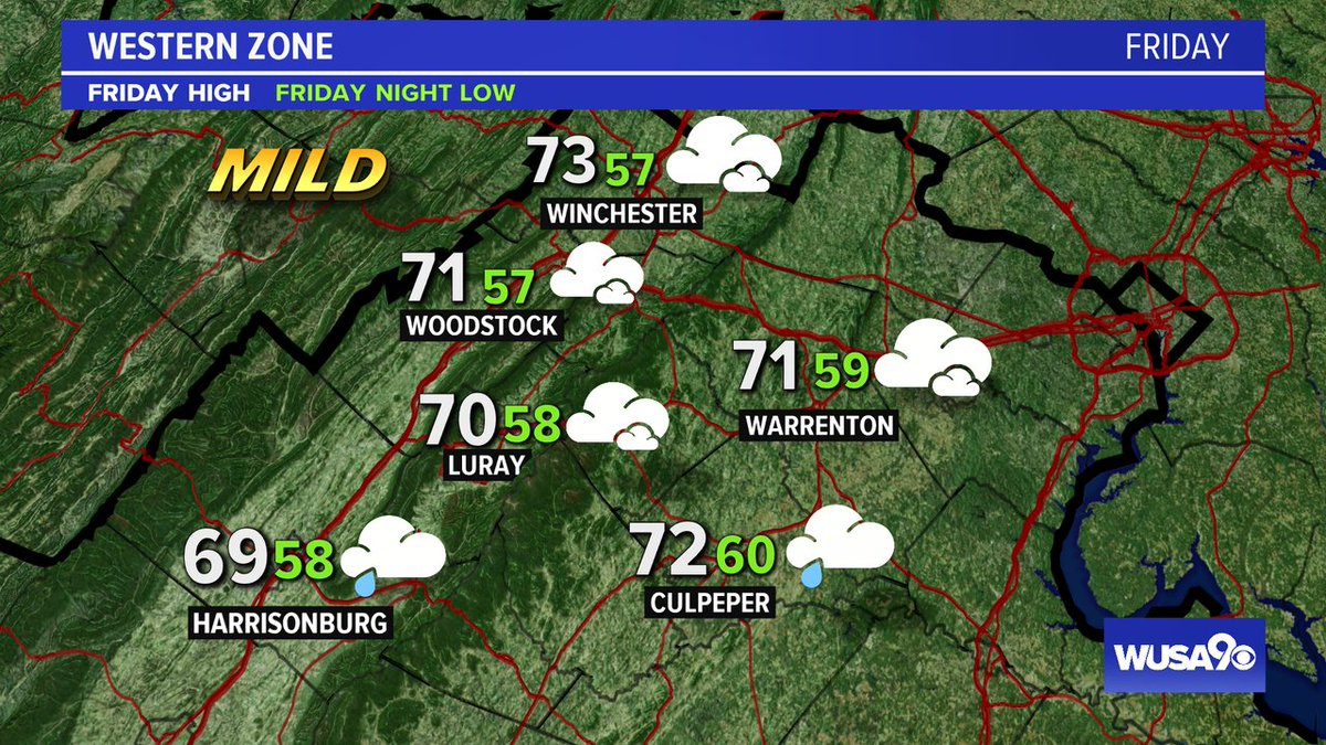 Here is your zone forecast. Showers mainly south until late today. @FCPS1News @ CulpeperSchools @WinchesterPD @wusa9 @HBWX @miriweather @chesterlampkin #WFH #wusa9weather #weather #DC #dcwx #vawx #mdwx #GetUpDC https://t.co/22dBSKhDf4 https://t.co/BQ8bUoZoPh