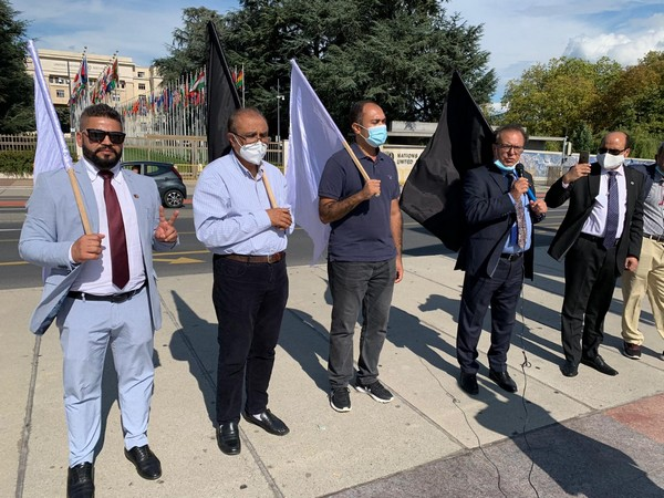 #PTM Europe organized a protest in front of #UNHRC HQ,Geneva to condemn HR violations in #Pakistan. Trend of Enforced disappearances started from Sindh & now extended to Balochistan& Khyber Pakhtunkhwa The Pashtuns were joined by Sindhis,Baloch,GBians against #PakistanArmy. https://t.co/s2WQJ50vap