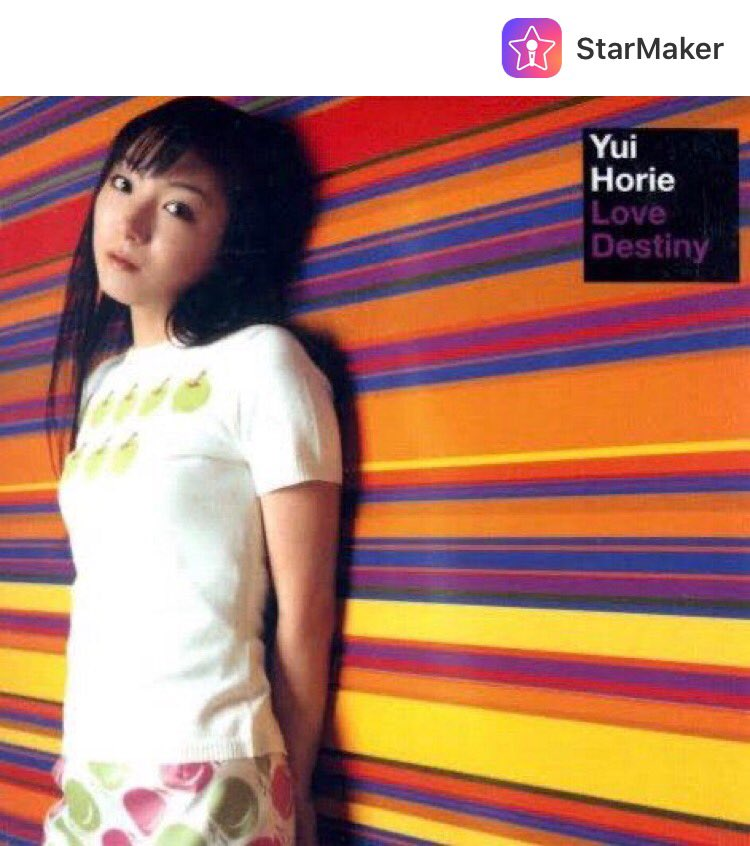 堀江由衣「Love Destiny」🎻  I published a song on StarMaker, check out my singing now! #StarMaker #karaoke #sing https://t.co/HhZoO2K7a3… https://t.co/AMnLNDPoIh