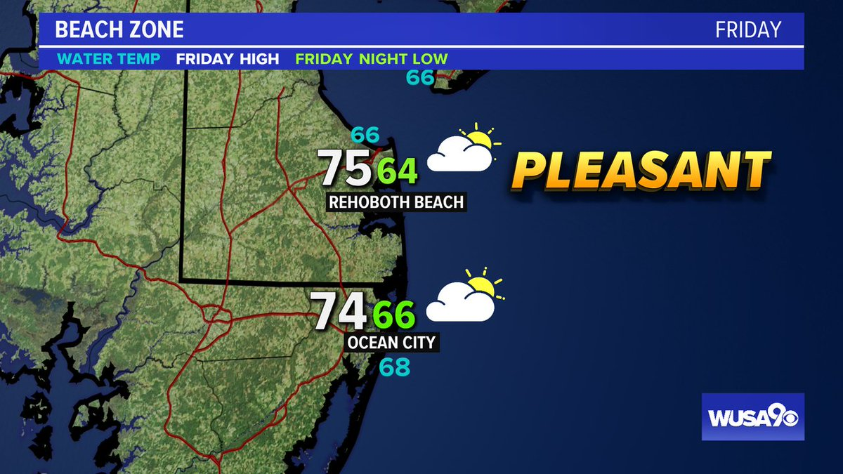 Here is your zone forecast.  A nice day at the Shore. @RehobothPd @OCPDMDinfo @wusa9 @greatdaywash @HBWX @miriweather @chesterlampkin #WFH #wusa9weather #weather #DC #dcwx #vawx #mdwx #GetUpDC https://t.co/22dBSKhDf4 https://t.co/WpMWHWxtO2