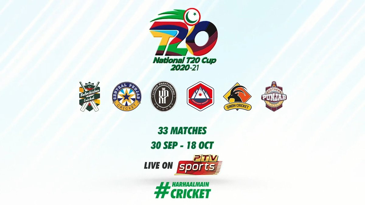 Back in the game! 🤜🤛  Get behind your favourite teams as the #NationalT20Cup 2020 gets into action from 30 Sep!  Schedule 👉  https://t.co/lZwVMUukoY   #HarHaalMainCricket https://t.co/MeF9PwAGfu