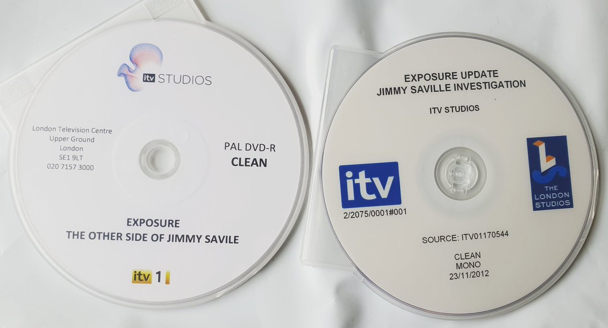 Having a clear out of old discs and have found these from my #JimmySavile programmes 2012. https://t.co/dBPT2yKyjV
