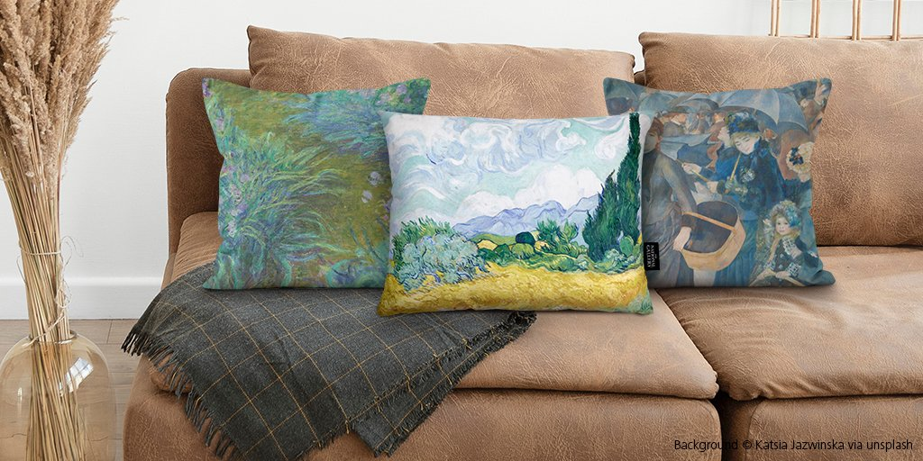 Made from cotton, our cushions are inspired by iconic paintings in the Gallery's collection. Head to our online shop to see our online exclusives: https://t.co/wwinvP4Wbw https://t.co/DDwdc2GaBm