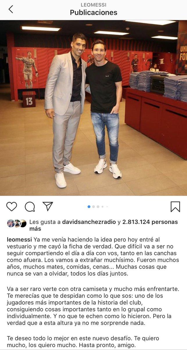 """💣 MESSI NO AFLUIXA. L'argentí acomiada Luis Suarez: """"Te merecías que te despidan como lo que sos [...] Y no que te echen como lo hicieron. Pero a esta altura ya no me sorprende nada""""  🌊 Un altre divendres tranquil 🤨  📻 En parlem a partir de les 19h! https://t.co/30gNn0UzOd https://t.co/E0Ga8R3Vrc"""