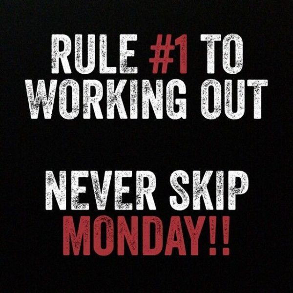 Rule no1. Never Skip Monday!! #Motivation #PersonalTraining #Gym https://t.co/re68ZWuRao
