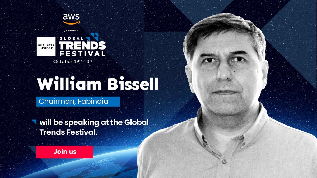 #BIGTF2020 | Proud to announce that Fabindia (@FabindiaNews) Chairman, William Bissell is coming to the #BIGTrendsFestival. Stay tuned for more!  Book you tickets now: https://t.co/DG1lxsQwOr #itscomingtoindia #BIGlobalTrendsFestival @BIPolska @businessinsider https://t.co/BWp4WX9iAr