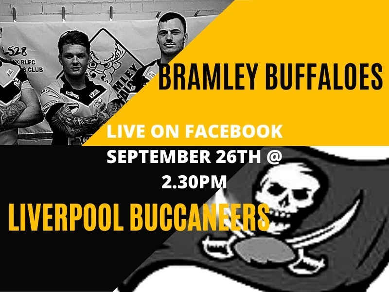 Tomorrow, 26th September, at 2:30pm, over on Facebook, our latest lockdown game is the 2009 Rugby League Conference National game between @bramleybuffs and Liverpool Buccaneers. Link in Bio. 2:30 Kick off  #bramley #bramleybuffs #rugbyleague #liverpoolbu… https://t.co/pjM2N0TsrZ https://t.co/Q1kGPPIx4B