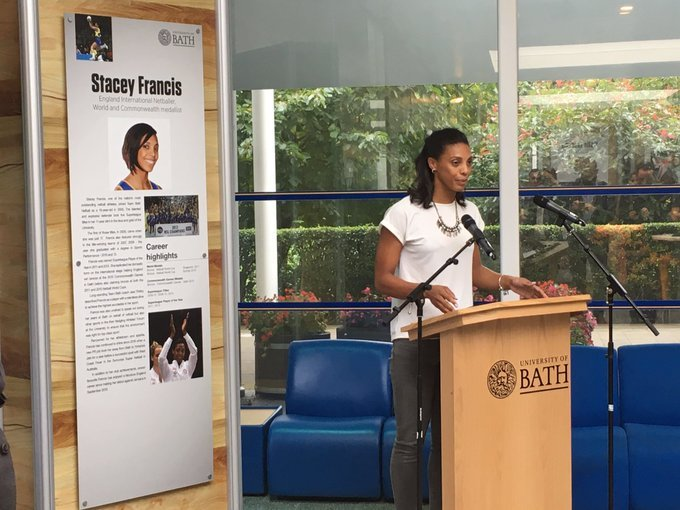 On this day in 2017, we welcomed @StcyJyneFrancis to the @TeamBath Hall of Fame. Stacey played a key role in all five of @TeamBathNetball's Superleague-winning squads from 2006 and she was named as @NetballSL Player of the Year in both 2011 and 2013. https://t.co/usG6IkqJr0