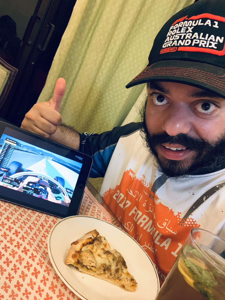 @MercedesAMGF1 @LewisHamilton @ValtteriBottas What's for lunch on ur plate ? #LunchTime #F1 #RussianGP I'm eating #Pizza #MarshalLife https://t.co/jNFpWORUGn