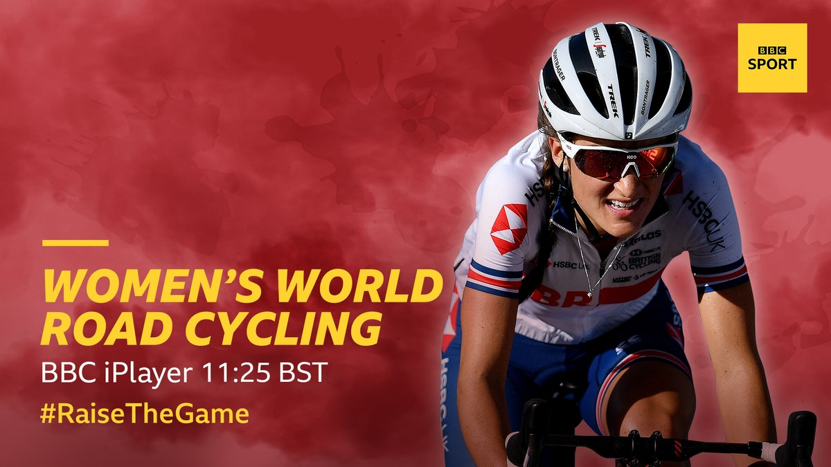 ON AIR NOW!   Full coverage of the Women's Road Race from Imola!  Watch it here: https://t.co/Wv7ZSDopWB #raisethegame https://t.co/hkIfnasmnT
