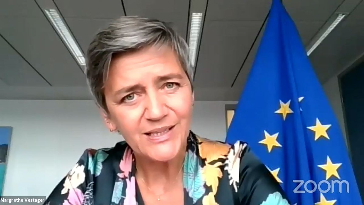 .@vestager is explaining how crucial to engage women researching, coding, conceiving #MachineLearning algorithms @wimlds  She is also mentioning #fairness in AI. 📺 Live here :  #WiMLDSParis #WiMLDS #WiMLDSOnline