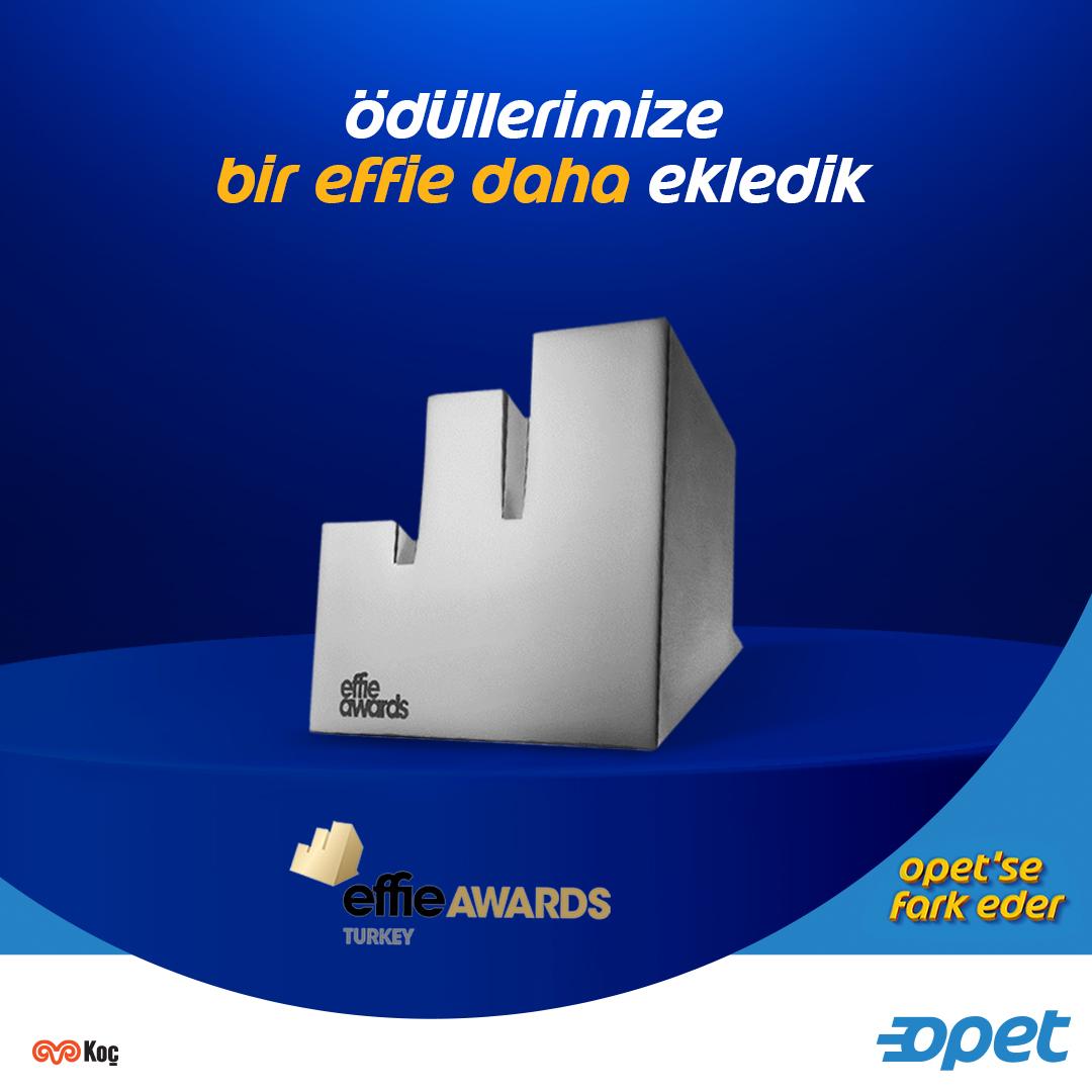 """Dünya çapında pazarlama ve iletişim profesyonelleri tarafından sektörünün en prestijli ödülü olarak kabul edilen Effie Türkiye 2020'de """"Yeni Nesil İstasyon"""" iletişimimiz sektörümüzün en etkili kampanyası olma başarısını göstererek ödüle layık görüldü. #OpetseFarkEder https://t.co/fXShpUZmml"""