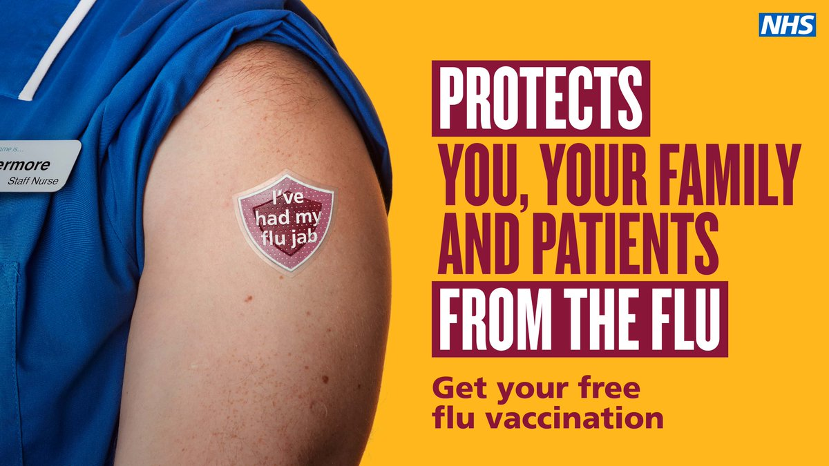 You can have flu with no symptoms and pass it on to your family and patients. If you work in health or care, it's time to get your free annual flu vaccine.   https://t.co/gyFhiTf8uv https://t.co/FWErA9w6p7