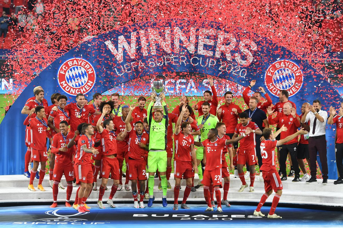 Fourth opportunity, fourth title! Really tough match but in the end a totally deserved win for us. A big compliment to everybody. It's great to see that we are starting exactly where we left off at the end of the season 🏆👏🏼 @FCBayern #SuperCup #MiaSanChampions #WeiterImmerWeiter https://t.co/mlCJMJuBSa