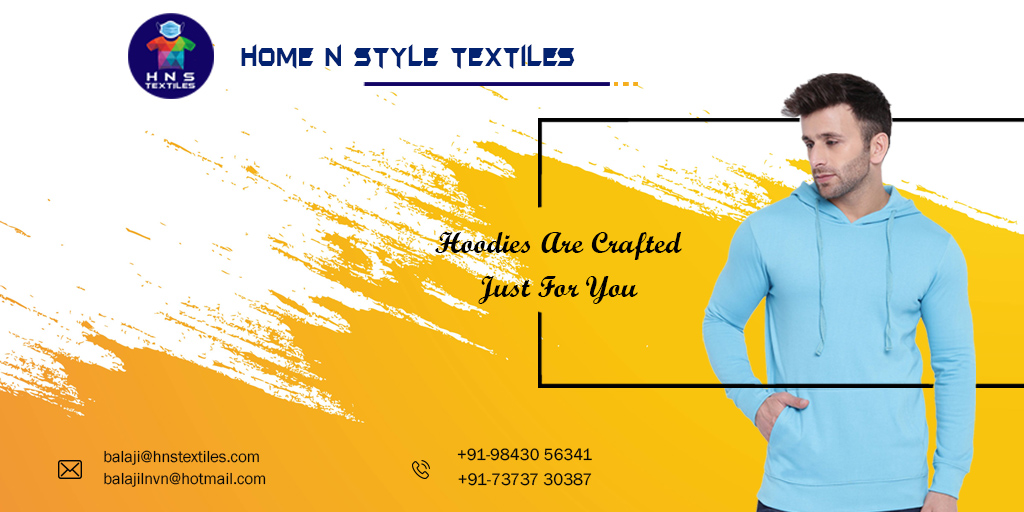 #HNS_Textiles ☑️Hoodies Are Crafted Just For You.... #HomeNStyleTextiles #Home_N_Style_Textiles #HNS #T_shirts #PPE_Kits #Medical_Textiles #Home_Textiles #Hospital_Linen #dress #garments https://t.co/TY0L4KKvgb