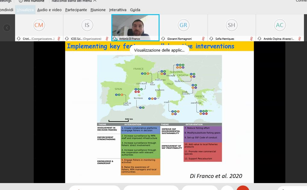 #lastday of #WGCOMEDA @ICES_ASC  new ToRD ready for a new challenge! integrate #humandimension to #IEA across #Atlantic and #Mediterranean systems coupling #social #economic and #ecological aspects speaker @Anto_Di_Franco   @SznDohrn #perception #effectiveness #MPAs #conservation https://t.co/qvvVhTb9zt