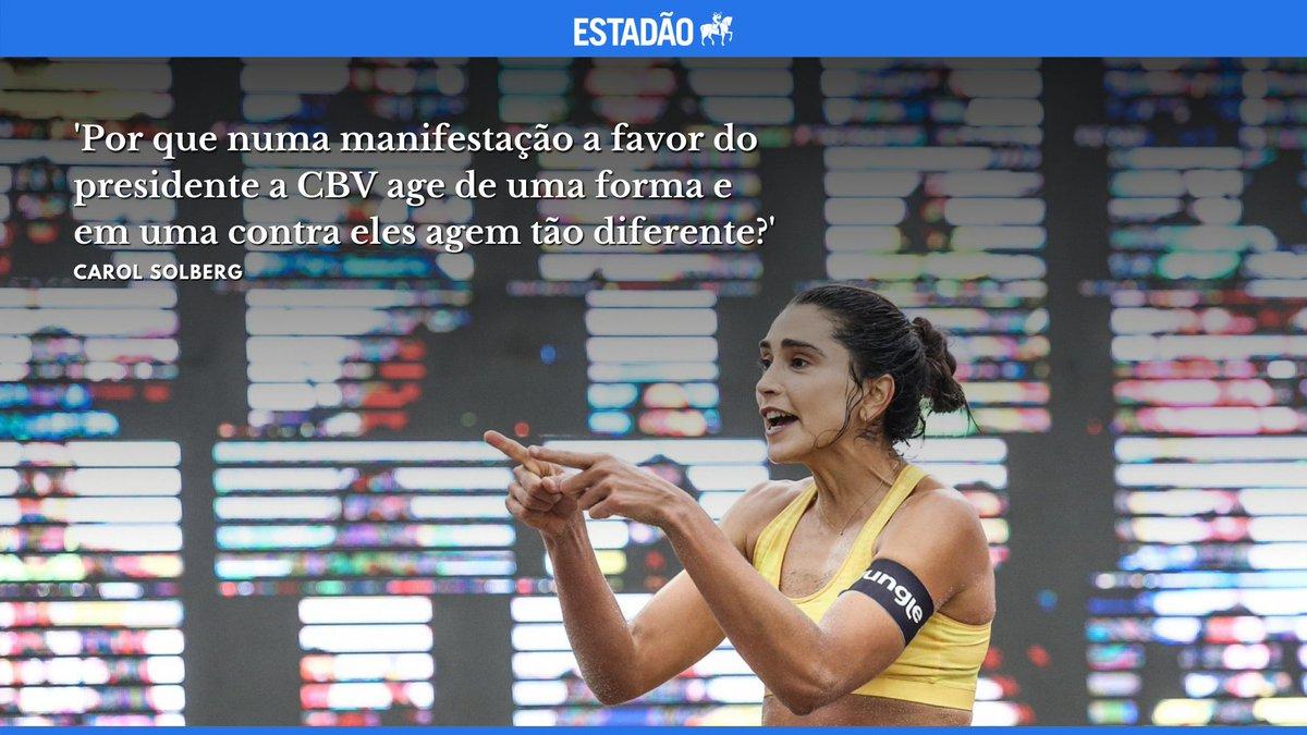 >@EstadaoEsporte ENTREVISTA: 'Esse papo de que não se deve misturar esporte e política não dá mais', diz Carol Solberg https://t.co/MIuV30FlMo https://t.co/EVXN4eHhVY