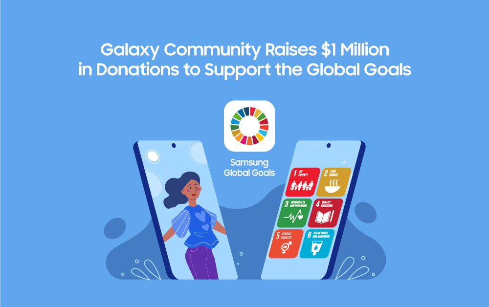 The Samsung Galaxy community raised $1M to support the #GlobalGoals! Together, with @UNDP, we're turning small actions into meaningful change through the #SamsungGlobalGoals app.   Learn more: https://t.co/3yTIQv1bsh https://t.co/TxbdtI3wDx